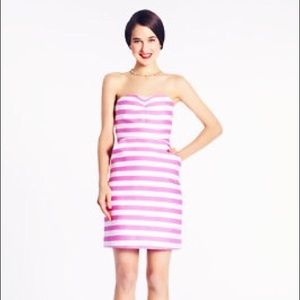 Kate Spade, pink and white striped dress.